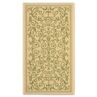 Safavieh Courtyard 2-Foot x 3-Foot 7-Inch Indoor/Outdoor Accent Rug in Natural/Olive