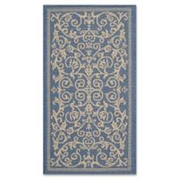 Safavieh Courtyard 2-Foot x 3-Foot 7-Inch Indoor/Outdoor Accent Rug in Blue