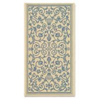 Safavieh Courtyard 2-Foot x 3-Foot 7-Inch Indoor/Outdoor Accent Rug in Natural/Blue