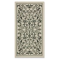 Safavieh Courtyard 3-Foot 7-Inch x 5-Foot Indoor/Outdoor Area Rug in Sand