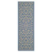 Safavieh Courtyard 2-Foot 3-Inch x 6-Foot 7-Inch Indoor/Outdoor Runner in Blue