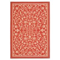 Safavieh Courtyard 4-Foot x 5-Foot 7-Inch Indoor/Outdoor Area Rug in Red