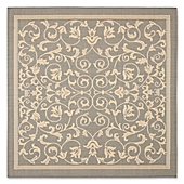 safavieh courtyard 6foot 7inch square area rug in grey