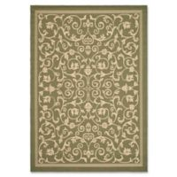 Safavieh Courtyard 8-Foot x 11-Foot Indoor/Outdoor Area Rug in Olive