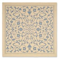 Safavieh Courtyard 7-Foot 10-Inch Square Indoor/Outdoor Area Rug in Natural/Blue