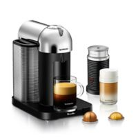 Nespresso® by Breville VertuoLine with Aeroccino Coffee and Espresso Maker in Chrome Bundle