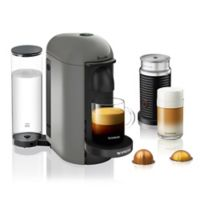 Nespresso® by Breville VertuoPlus Coffee Machine in Gray with Aeroccino3