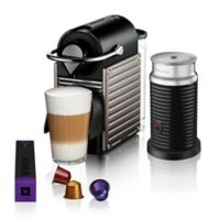 Nespresso® by Breville Pixie Coffee Machine in Titanium with Aeroccino3