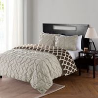 VCNY Scottsdale Reversible Twin XL Mini Duvet Cover Set in Taupe