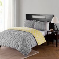 VCNY Scottsdale Reversible Twin XL Mini Duvet Cover Set in Charcoal