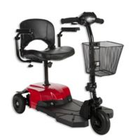 Drive Medical Bobcat X3 Rear Wheel Drive 3-Wheel Scooter with Stadium Seat in Red