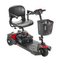Drive Medical Scout Compact Rear Wheel Drive Mobility 3-Wheel Scooter with Swivel Seat in Red
