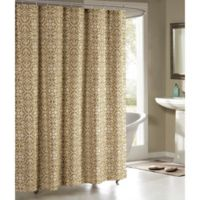 Allure Cotton-Blend 72-Inch Shower Curtain in Taupe