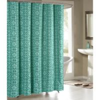 Allure Cotton-Blend 72-Inch Shower Curtain in Teal