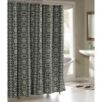 Allure Cotton-Blend 72-Inch Shower Curtain in Charcoal