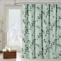 Meridian Shower Curtain in Light Grey