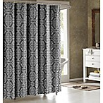 Adisson Cotton-Blend 72-Inch Shower Curtain in Charcoal