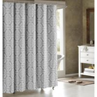 Adisson Cotton-Blend 72-Inch Shower Curtain in Grey