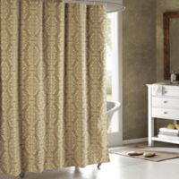 Adisson Cotton-Blend 72-Inch Shower Curtain in Taupe