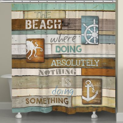 Laural Home® Beach Mantra Shower Curtain