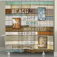 Laural Home® Beach Mantra Shower Curtain