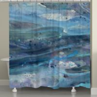 Laural Home® Rolling Waves Shower Curtain in Blue