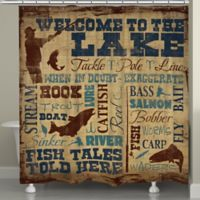 Laural HomeR Welcome To The Lake Shower Curtain In Brown