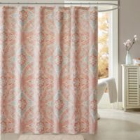 Madison Park Grace 72 Inch Shower Curtain In Coral