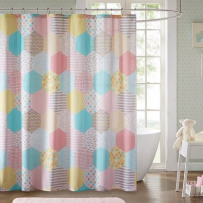 Urban Habitat Kids Trixie 72 Inch Shower Curtain In Yellow/Pink