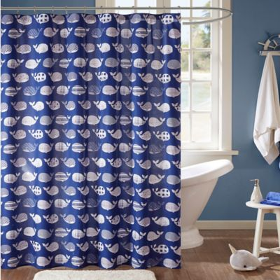 bed bath and beyond bathroom curtains. Urban Habitat Kids Moby 72 Inch Shower Curtain in Navy Buy Curtains from Bed Bath  Beyond