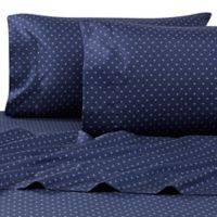 Casual Living Campus Benzoyl Peroxide-Resistant Swiss Cross Standard Pillowcases in Navy (Set of 2)