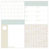 WallPops!® Dry-Erase 3-Piece Glamour Monogram Calendar/Planner/Notes Board Set