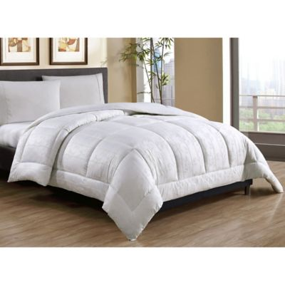 caribbean joe cotton down alternative fullqueen comforter in white - Down Comforter Queen