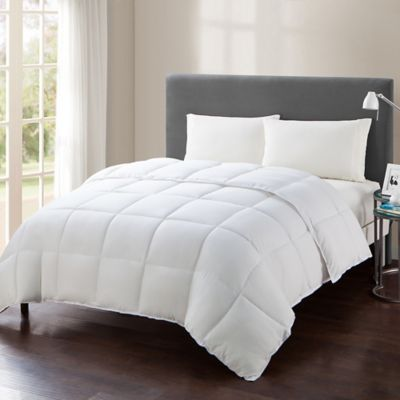 caribbean joe microfiber down alternative king comforter in white - Down Comforter Queen