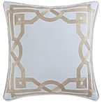 Coastal Living® Embroidery Frame Square Throw Pillow in Linen