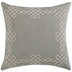 Coastal Living® Geo Frame Square Pillow in Mushroom