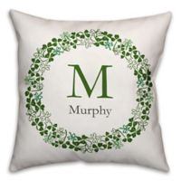 Designs Direct St. Patrick's Day Collection Family Clover Wreath Throw Pillow