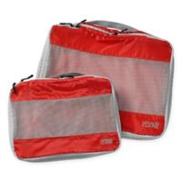 Lewis N. Clark® ElectroLight™ Expandable Packing Cubes in Red (Set of 2)