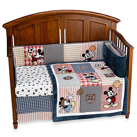 Disney Vintage Mickey 4 Piece Crib Bedding Set Buybuy Baby