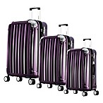 Olympia® USA Whistler 3-Piece Expandable Spinner Suitcase Set in Purple