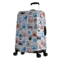 Olympia® USA Spandex 23-Inch - 26-Inch Luggage Cover in Stamp Blue