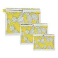 Sage & Emily 3-Pack Zip Organizers in Yellow