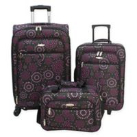 Millennium By Travelway® 3-Piece Luggage Set in Purple