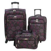 5038992cef Millennium By Travelway® 3-Piece Luggage Set in Purple
