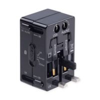 Lewis N. Clark® 4-in-1 Universal Adapter Plug in Black