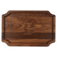 "Cutting Board Company BigWood 12-Inch x 18-Inch Letter ""B"" Scalloped Cutting Board in Walnut"