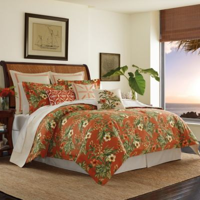 Tommy Bahama® Rio De Janeiro Reversible California King Comforter Set In Red