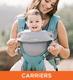 ERGObaby - Carriers; image of child in baby carrier
