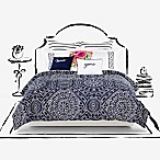 kate spade new york Eyelet Medallion King Comforter Set in Navy