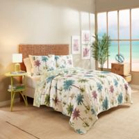 Vue® Arcadia Reversible King Quilt Set in White